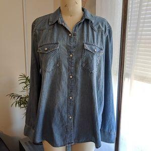 GAP | denim button down shirt